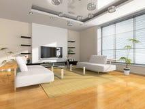 Interiore moderno della stanza immagini stock libere da diritti