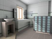 Interiore moderno della stanza da bagno illustrazione vettoriale