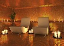 Interiore moderno della stazione termale Fotografie Stock
