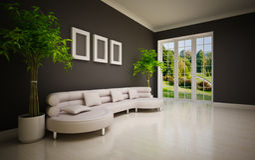 Interiore moderno minimo Fotografie Stock Libere da Diritti