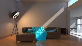 Interiore moderno Spazio contemporaneo Fotografia Stock