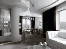 Interiore monocromatico Fotografie Stock