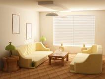 Interiore nei toni chiari illustrazione vettoriale