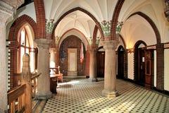 Interiore neogotico. Fotografia Stock