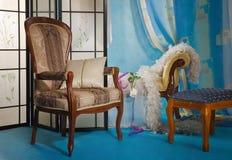 Interiore raffinato del boudoir fotografie stock