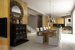 Interiore residenziale della casa Fotografie Stock Libere da Diritti