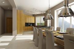 Interiore residenziale della casa Fotografia Stock