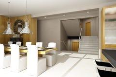 Interiore residenziale della casa Fotografia Stock Libera da Diritti