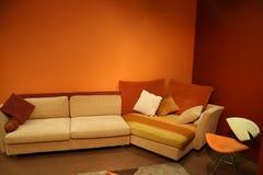 Interiore rosso Immagine Stock