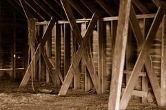 Interiore rustico del granaio Fotografia Stock Libera da Diritti
