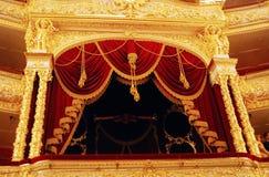 Interiore storico della costruzione del teatro di Bolshoi Fotografia Stock Libera da Diritti