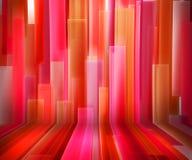 Interiore a strisce rosso Fotografie Stock Libere da Diritti