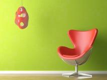 Interiore verde e rosso Fotografie Stock
