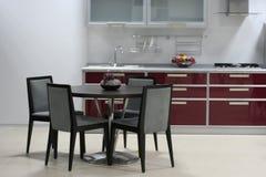 Interiore vinoso della cucina Fotografia Stock