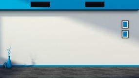 Interiore vuoto blu Fotografie Stock