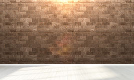 Interiore vuoto 3d rendono Fotografia Stock Libera da Diritti