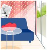 Interiore vuoto del café royalty illustrazione gratis