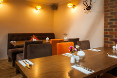 Interiore vuoto del ristorante Immagine Stock Libera da Diritti