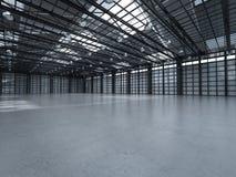 Interiore vuoto della fabbrica Immagine Stock
