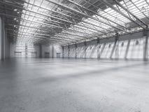 Interiore vuoto della fabbrica Fotografia Stock