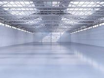 Interiore vuoto della fabbrica Fotografia Stock Libera da Diritti