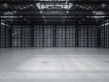 Interiore vuoto della fabbrica Fotografie Stock Libere da Diritti