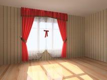 Interiore vuoto moderno della stanza Fotografie Stock Libere da Diritti