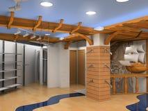 interioren shoppar vektor illustrationer