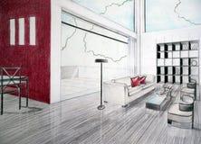 interioren skissar Royaltyfri Foto