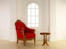 Interiores - asiento antiguo stock de ilustración