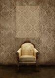 Interiores - asiento antiguo en damak stock de ilustración