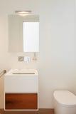 Interiores, banheiro moderno fotografia de stock royalty free