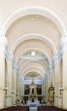Interiores bonitos da igreja Foto de Stock