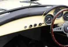 Interiores clásicos del coche Foto de archivo