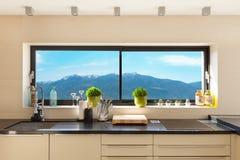 Interiores, cozinha moderna fotos de stock royalty free