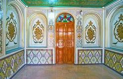 Interiores da casa de Qavam, Shiraz, Irã Imagens de Stock Royalty Free