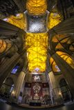Interiores da catedral de Sevilha imagem de stock royalty free