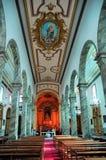 Interiores da igreja Fotos de Stock