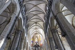 Interiores da igreja de São Nicolau, Ghent, Bélgica Fotos de Stock Royalty Free