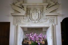 Interiores de Chateau de Chenonceau, la el Loira, Francia de Vallee de Imagen de archivo libre de regalías