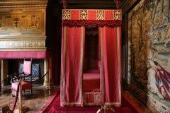 Interiores de Chateau de Chenonceau, la el Loira, Francia de Vallee de Fotos de archivo