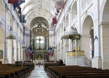 Interiores de la capilla de DES Invalides del Saint Louis en París el 14 de marzo de 2012 adentro en París, Francia Imagen de archivo