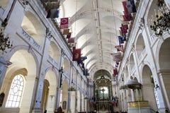 Interiores de la capilla de DES Invalides del Saint Louis en París el 14 de marzo de 2012 adentro en París, Francia Foto de archivo