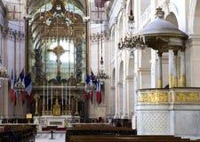 Interiores de la capilla de DES Invalides del Saint Louis en París el 14 de marzo de 2012 adentro en París, Francia Fotos de archivo