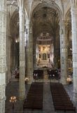 Interiores de la iglesia del monasterio de Jeronimos Imagen de archivo
