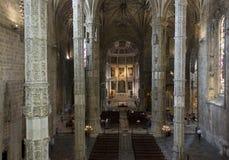 Interiores de la iglesia del monasterio de Jeronimos Imagenes de archivo