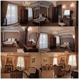 Interiores de lujo foto de archivo