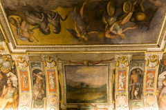 Interiores de Palazzo Barberini, Roma, Itália Fotos de Stock