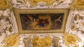 Interiores de Palazzo Barberini, Roma, Itália Imagens de Stock