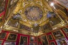 Interiores de Palazzo Pitti, Florença, Itália Imagens de Stock